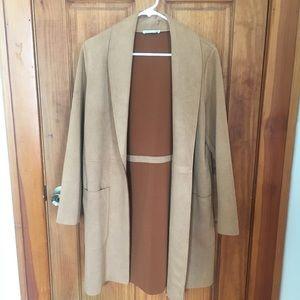 Faux hide coat